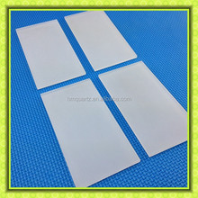 Square shape milky white quartz glass piece, quartz plate