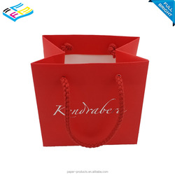 Customized red promotional large luxury shopping paper bag