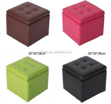 shs-016 high quality wood ottoman, ottoman chair square storage stool, footstool, ottoman