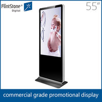 Hot fashion apple outlook 55 inch floor free standing LCD Advertising media player, led lcd tv monitor