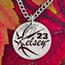 2015 new design laser cut stainless steel basketball necklace for boy and girls