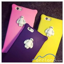 Big 6 six Baymax 3D Silicon Case for Apple iPhone 6 Phone Case