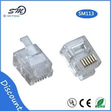 rj12 6-wire plug /6p6c crystal head