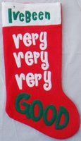 Red Felt Christmas stocking with very very very good logo for wholesale