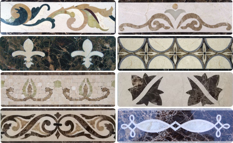 Well Polished Popular Design Marble Bordersimple Flooring Border
