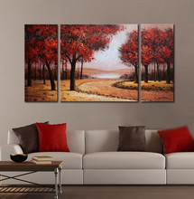 wall decorations of handmade paintings