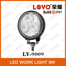 3.2 inch 3w cob rechargeable led work light, LY9009-9W auto led work light Black&white Epistar,CE Emark DOT IP67 qualified