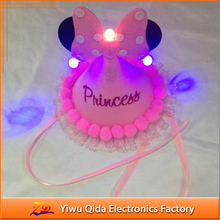 baby princess kids led hat birthday party supplies