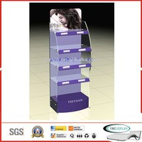 Acrylic floor display for cosmetics