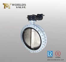 stainless steel butterfly valve with flange/sandwich ends