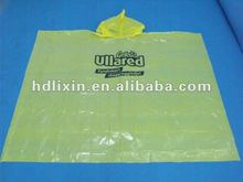Unique And Fashional Style Plastic Disposable rain Poncho