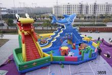 High quality commercial 1000 ft slip n slide inflatable slide the city good quality