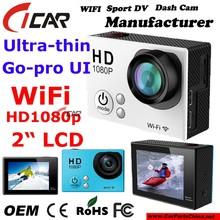 2015 New Most Popular Full HD 1080P Helmet Camera Waterproof Sport Outdoor Action Camera Mini DV Cam