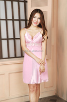 2015 mature Women satin pajamas sex nightgown for OEM service with lower price