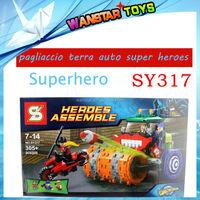 SY317 pagliaccio terra auto super heroes costruzione mattoni blocchi imposta istruzione giocattoli