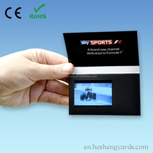 "Gift products OEM & ODM services2.4"" custom video greeting card,video business card, paper craft video cards"