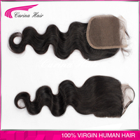 new style 22inch Wholesales Indain hair Silk lace Closure cheap human hair lace closure