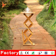 bamboo table store type for food tasting supermarket counter cheap price in shanghai