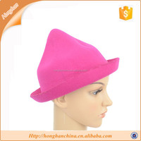 cloche hat,lady Candy color,fashion polyester felt hat