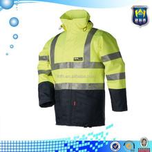 Hi Vis Safety Two Tone Yellow Navy fleece jacket European style
