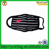 Wholesale Black Muslin custom printed reusable dust mask