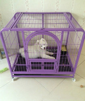Hot sale foldable large china dog cage steel dog crate pet carrier