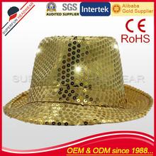 100% cotton cowboy cap style led festival hat
