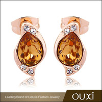 OUXI jewelry new fashion design cheap crystal hanging earring,crystals from Swarovski