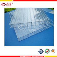 propiedades de la hoja hueco del policarbonato claro panel dom