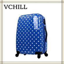 china wholesale spinner polka dot abs pc luggage