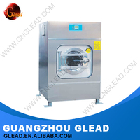 Professional commercial front loading automatic laundry wash machine
