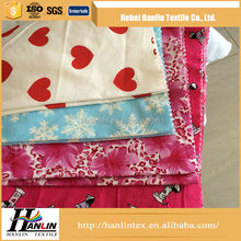 High Quality Cheap 100% Cotton Fabric/dyed 100% cotton flannel fabric for sheeting