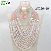 jewelry stone setting pink world imitation jewelry set fashion jewelry necklace