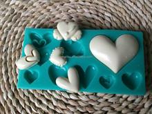Cake Mold Silicone HEART Chocolate Cake Sugar Candy Fondant Mold Cake Mold Silicone