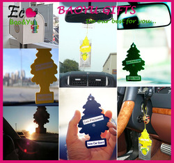 Factory custom car air freshener hanging paper car air freshener for promotional