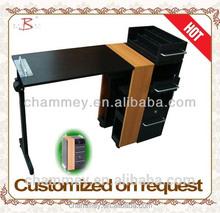 commercial wooden manicure nail pedicure desk dimension,super king size cosmetic desk
