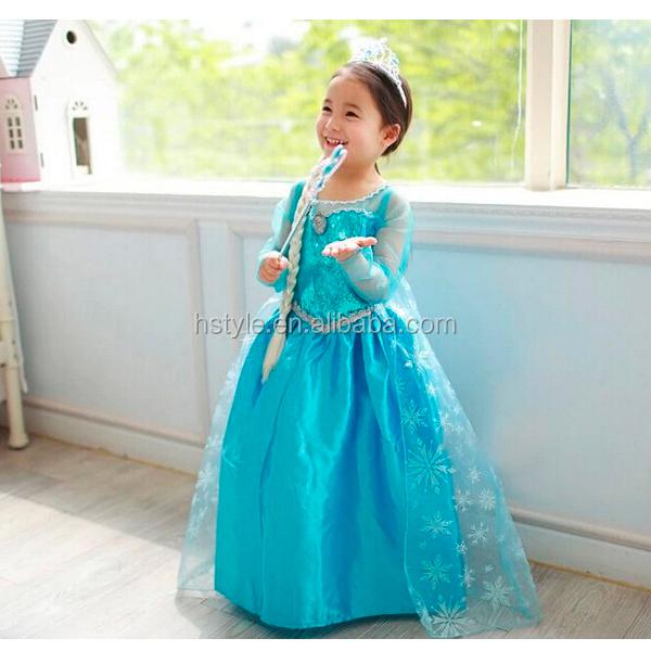 Party Gowns For Kids Frozen Elsa Dress Wholesale Chiffon Maxi ...