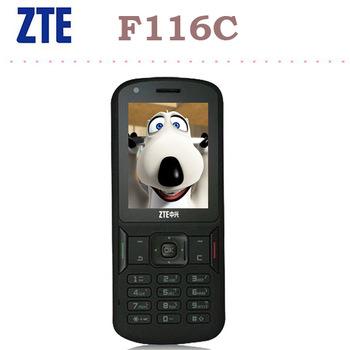 ZTE F116C función 2.4 pulgada 3G WCDMA T9 teclado 2.0Mp cámara Teléfono móvil elegante para viejo personas