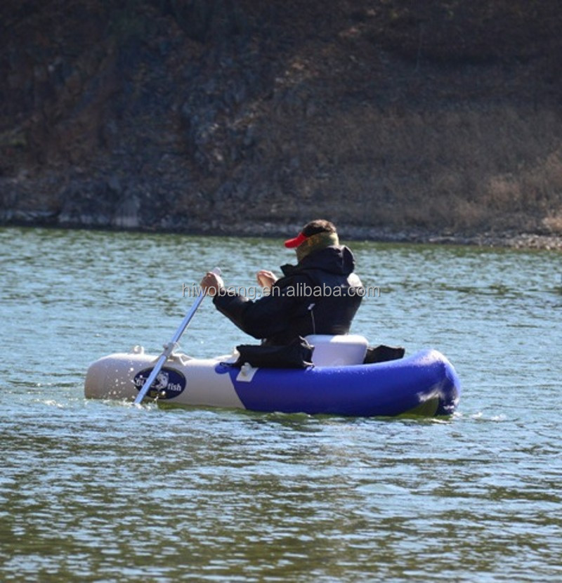 Portable mini inflatable boat small belly boat for fishing for Belly boat fishing