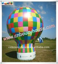 2012 hot selling outdoor colorful inflatable cold air ground balloon for advertising(BAL-49)