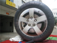 Promotional inflatable tire for advertising