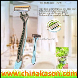 stainless steel 6 Chrome 3 blade razor manufacturer distributor