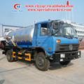Dongfeng 4 x 2 8cbm de aguas residuales de vacío del tanque de camiones y El estigma de succion vacio