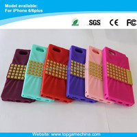 Japanese candy series silicone case for iphone 6 plus with Shoulder Chain Strap