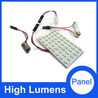 48 SMD 3528 White Light Panel T10 BA9S Festoon adapters Car Dome light 48 LED CAR Interior auto led panel light parts