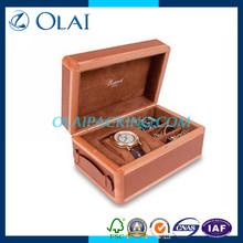 famous brand leather watch&cufflink box