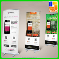 Hot sale aluminum roll up banner stand size