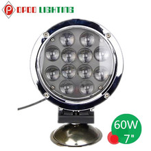 2015 New Novelty Product 7inch Round 60W Led Work Light, 4WD Truck 60W Led Work Light