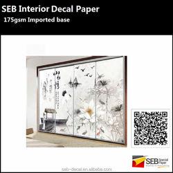 DIY tile/glass/wood door decoration water transfer paper water slide decals 175gsm blanks