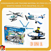ABS block 3 shaps in 1 box Police Helicopter kids toy